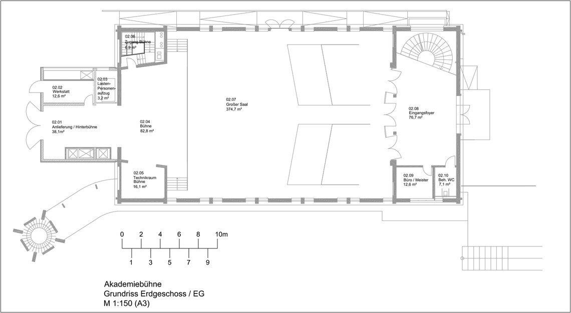 r ume der akademieb hne akademieb hne baden baden. Black Bedroom Furniture Sets. Home Design Ideas